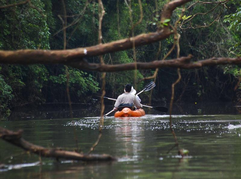 Kayaking and exploring the rainforest from your Iguazu jungle lodge