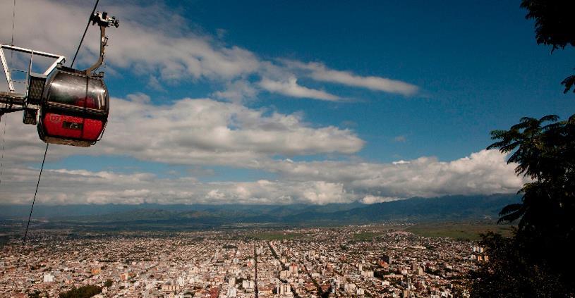 Enjoy the fantastic views from the top of the San Bernardo Hill on a Salta city tour.