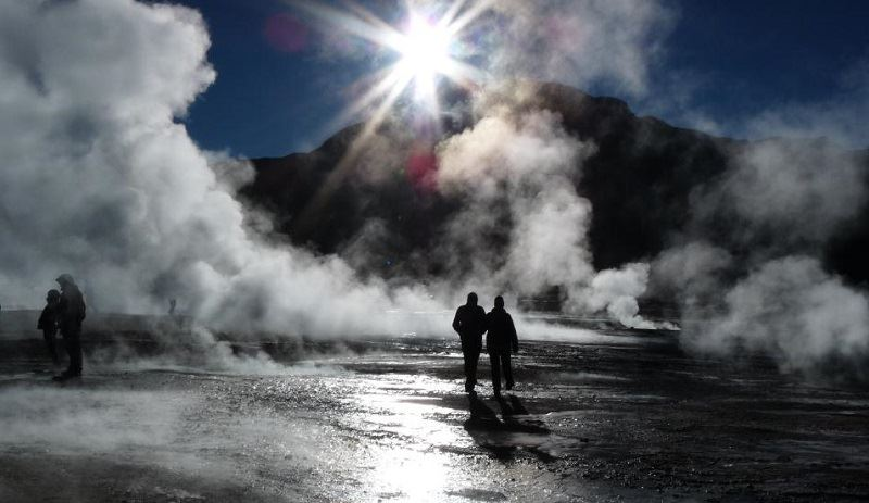 The El Tatio geyser field is spectacular in the very early morning - wrap up nice and warm!