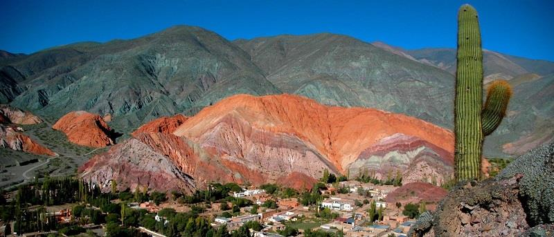 The Hill of Seven Colors provides a lovely backdrop to the small village of Purmamarca.