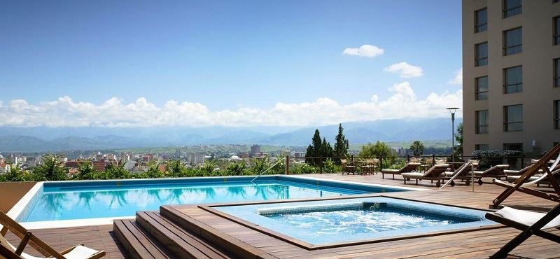 Catch some rays on the lovely terrace with views over the city at the Sheraton Hotel Salta.